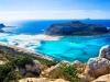 Landmarks and beautiful beaches of Crete island - Balos bay, Greece